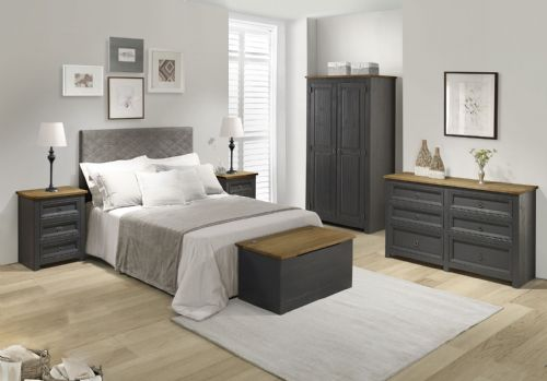 Corona Carbon Bedroom Collection